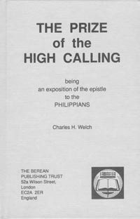 The Prize of the High Calling